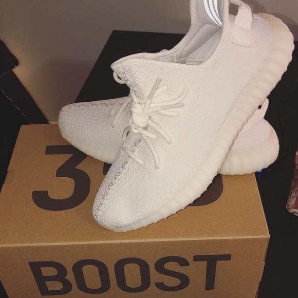Yeezy Shoes | Triple White Yeezys Size